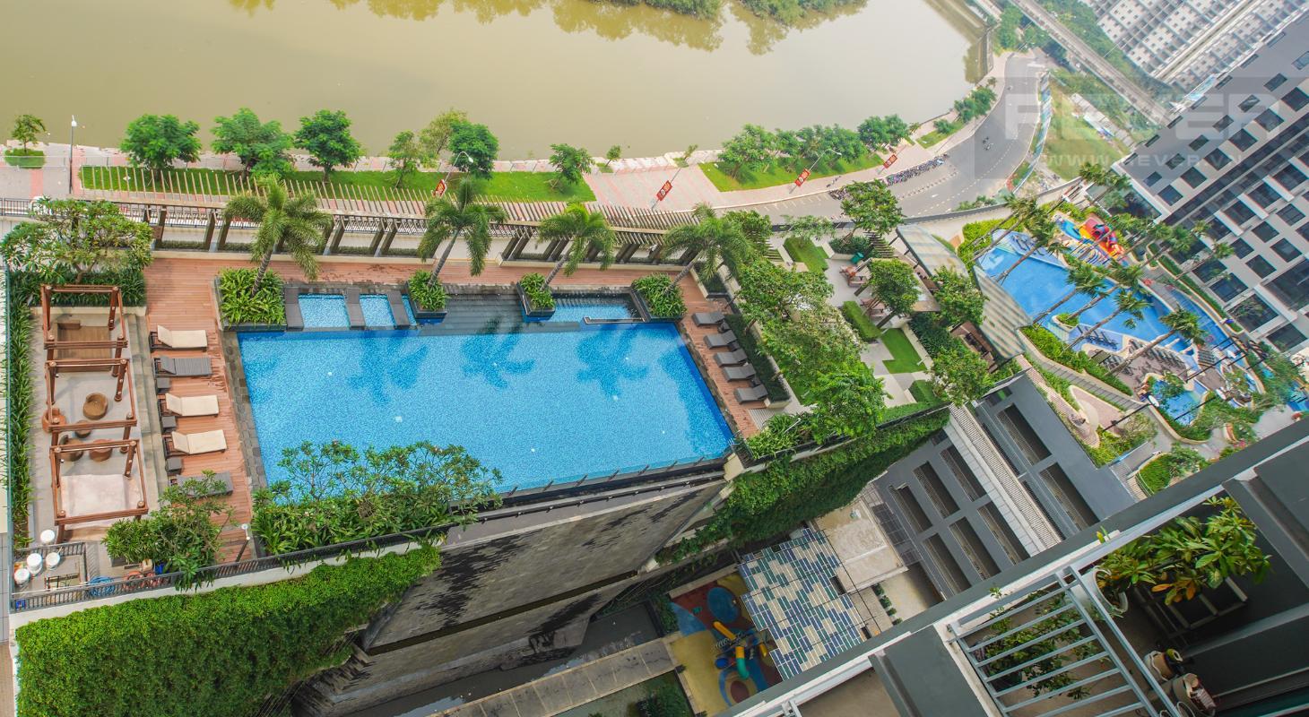 View Bán căn hộ Riviera Point 2PN, diện tích 105m2, đầy đủ nội thất, hướng Đông Bắc, view sông và hồ bơi