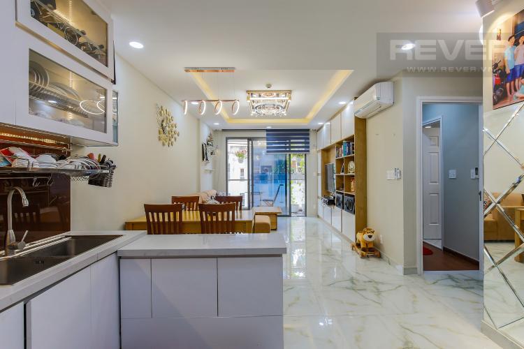 Phòng Bếp Căn hộ The Gold View tầng trung tháp A1, 2 phòng ngủ, full nội thất