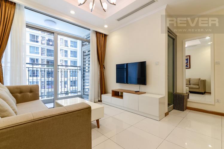 Phòng Khách Căn hộ Vinhomes Central Park tầng trung, tháp Landmark 5, 2PN đầy đủ nội thất