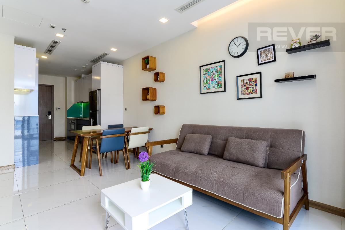 _DSC3955 Bán căn hộ Vinhomes Central Park 1PN, tháp Park 7, đầy đủ nội thất, view hồ bơi và mé sông