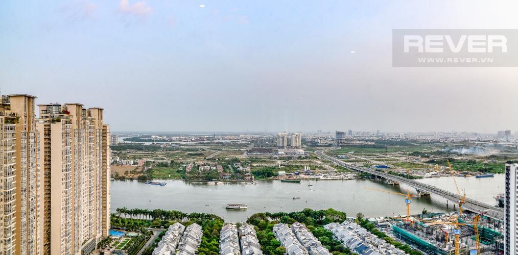 View Phòng Ngủ Penthouse Saigon Pearl tháp Sapphire diện tích 221m2 full nội thất