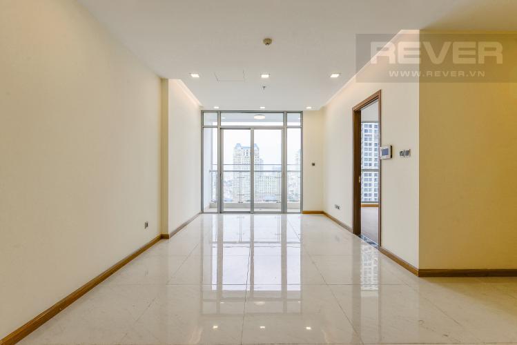 Phòng khách Officetel Vinhomes Central Park 2 phòng ngủ tầng trung P7 nhà trống