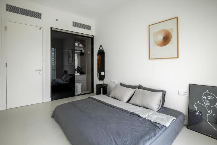Phòng ngủ căn hộ GATEWAY THẢO ĐIỀN Cho thuê căn hộ Gateway Thảo Điền 1PN, tầng cao, diện tích 56m2, đầy đủ nội thất, view hồ bơi