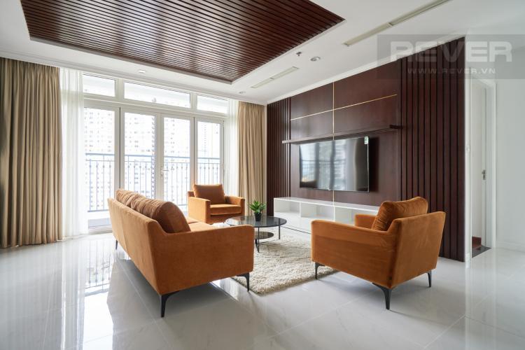 Phòng Khách Bán căn hộ Vinhomes Central Park 3PN, tháp The Central 3, đầy đủ nội thất, thiết kế sang trọng