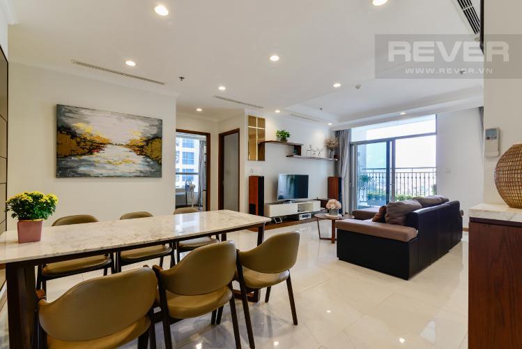 Phòng Khách Bán căn hộ Vinhomes Central Park 4PN, tháp The Central 2, đầy đủ nội thất, view sông trực diện