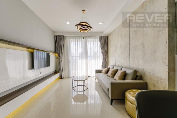 Phòng khách Căn hộ The Tresor tầng trung, 3 phòng ngủ, hướng Tây Bắc, view sông