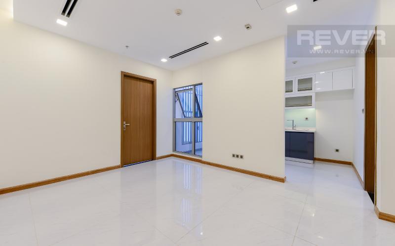 phòng khách Căn OfficeTel Vinhomes Central Park 1 phòng ngủ tầng thấp Park 1 nội thất cơ bản