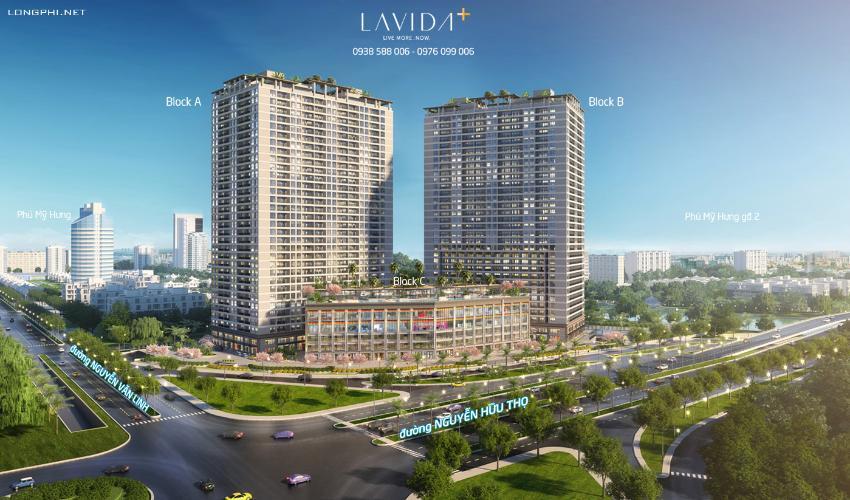 Bán Office-tel Lavida Plus tầng trung, diện tích 43.07m2, không có nội thất