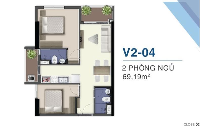 Mặt bằng căn hộ Q7 Saigon Riverside Bán căn hộ Q7 Saigon Riverisde ban công hướng Bắc, view hồ bơi.