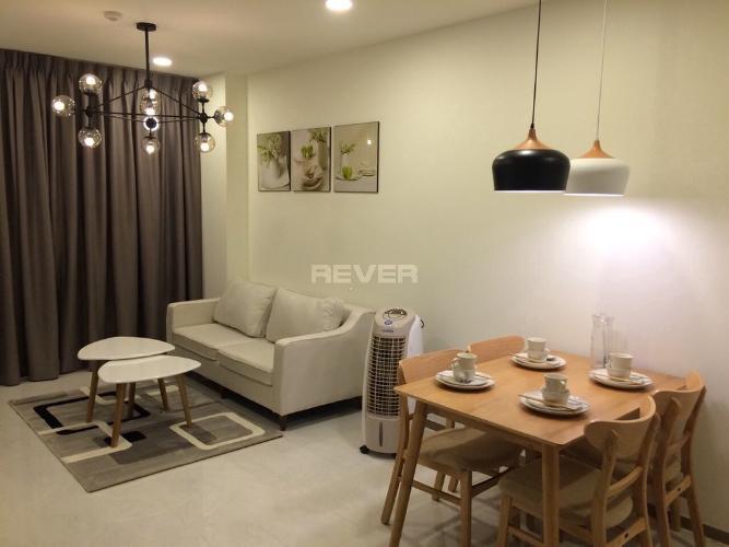 Phòng khách căn hộ Riva Park Căn hộ Riva Park tầng trung đầy đủ nội thất, màu sắc trung tính.