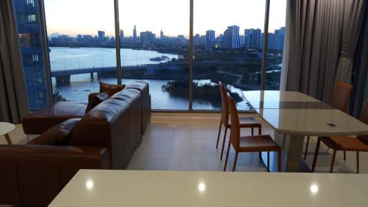Bán căn hộ Diamond Island nhìn về Landmark 81, đây đủ nội thất.