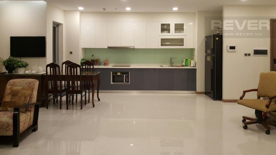 Bếp Bán căn hộ Vinhomes Central Park 4PN, tháp Park 1, nội thất cơ bản, view trực diện sông Sài Gòn
