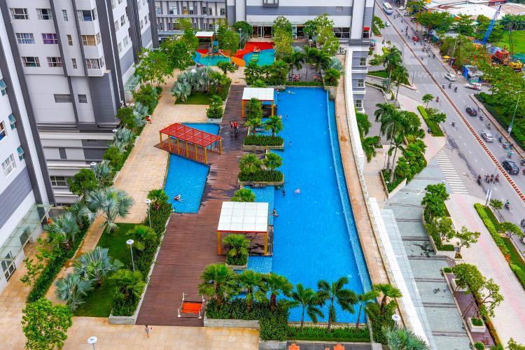 View Hồ Bơi Căn hộ Sunrise City 2 phòng ngủ tầng trung W1 view hồ bơi