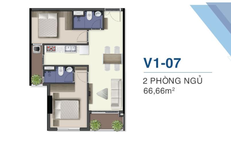 Layout căn hộ Q7 Saigon Riverside, Quận 7 Căn hộ Q7 Saigon Riverside nội thất cơ bản, view thoáng mát.
