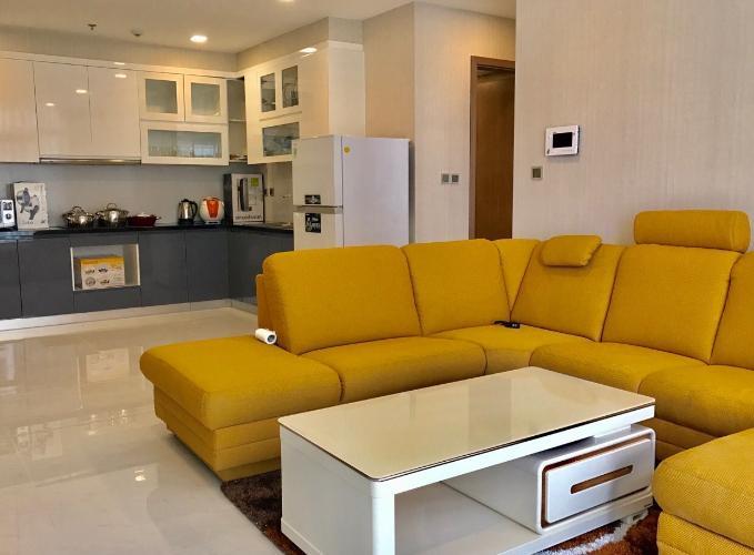 Phòng khách căn hộ Vinhomes Central Park Căn hộ tầng cao Vinhomes Central Park đầy đủ nội thất, 3 phòng ngủ.