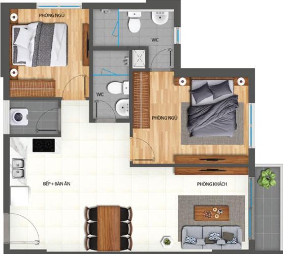 Căn hộ Lovera Vista bàn giao nội thất cơ bản cao cấp, 2 phòng ngủ.