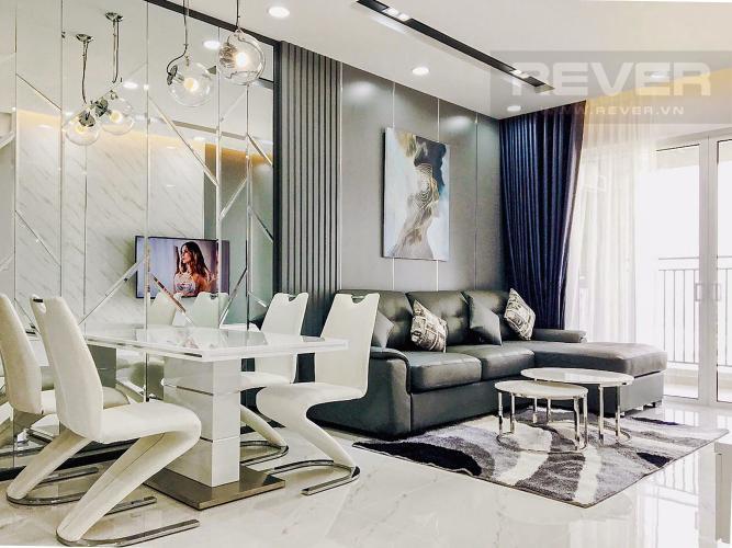 Phòng Khách Cho thuê căn hộ Sunrise CityView 3PN, tầng cao, diện tích 99m2, đầy đủ nội thất