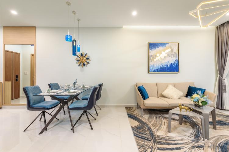 Phòng khách căn hộ LOVERA VISTA Bán căn hộ Lovera Vista 2 phòng ngủ, diện tích 61m2, nội thất cơ bản, có ban công thông thoáng