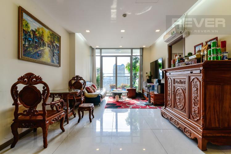 Phòng Khách Bán hoặc cho thuê căn hộ Vinhomes Central Park 2PN tầng trung tháp Park 7, đầy đủ nội thất cao cấp