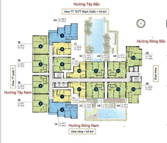 Layout Precia, Quận 2 Căn hộ Precia nội thất cơ bản, thiết kế hiện đại.