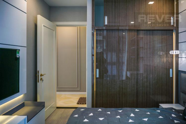 Phòng Ngủ 2 Cho thuê căn hộ Vinhomes Golden River tầng cao, đầy đủ nội thất, view Sài Gòn và Bitexco