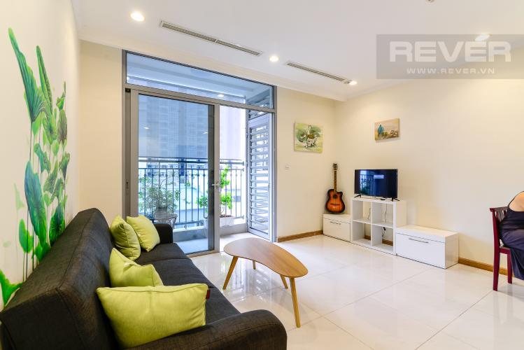 Phòng Khách Cho thuê căn hộ Vinhomes Central Park 1PN, đầy đủ nội thất, view mé sông Sài Gòn