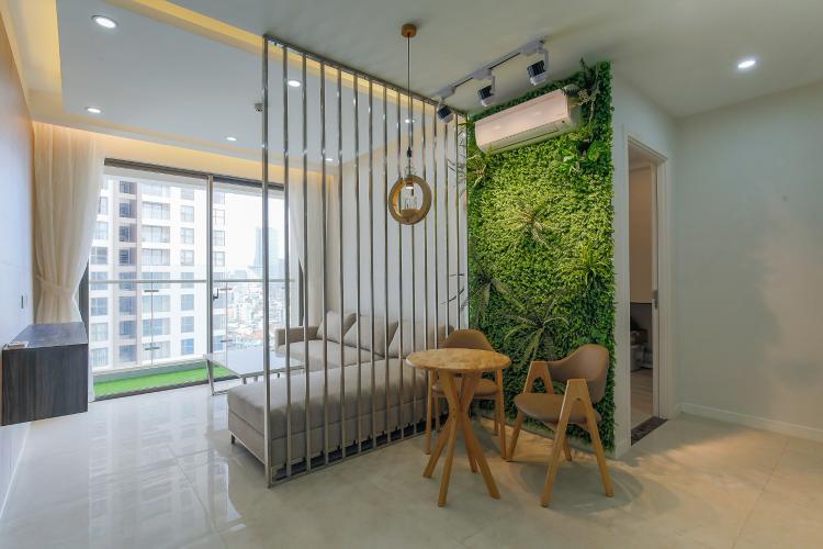 Căn hộ Masteri Millennium tầng trung, 2PN 2WC, nội thất đầy đủ, balcony view hồ bơi