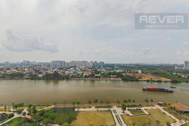 View Bán căn hộ Vinhomes Central Park tầng trung tháp Park 1, 4PN 3WC, đầy đủ nội thất, view sông Sài Gòn