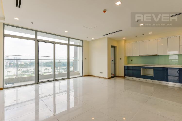 phòng khách Căn góc Vinhomes Central Park tầng thấp Park 1 view toàn cảnh sông Sài Gòn