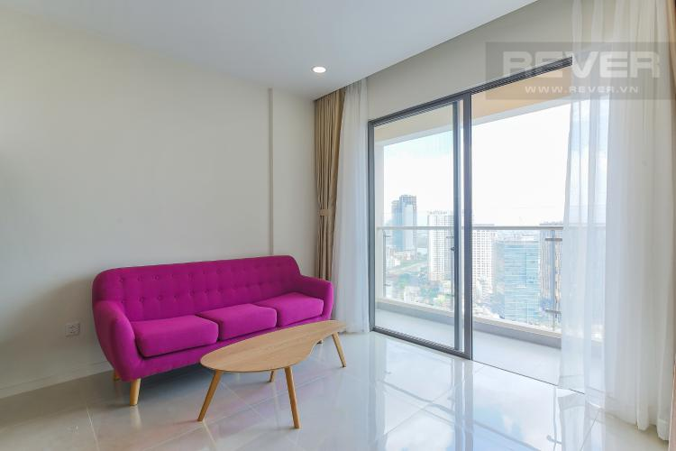 Phòng Khách Cho thuê căn hộ Masteri Millennium tầng cao, 2PN, đầy đủ nội thất, view sông