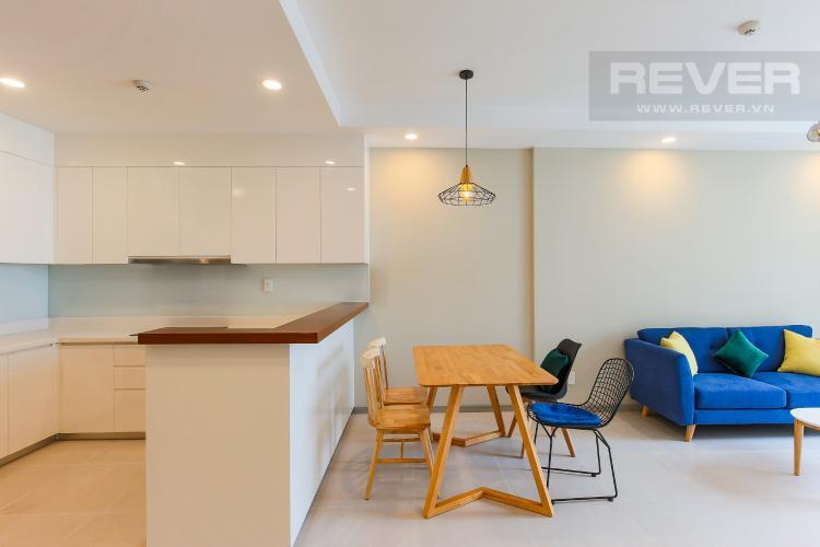 Bàn Ăn Căn hộ The Gold View 2 phòng ngủ tầng cao A2 nội thất đầy đủ