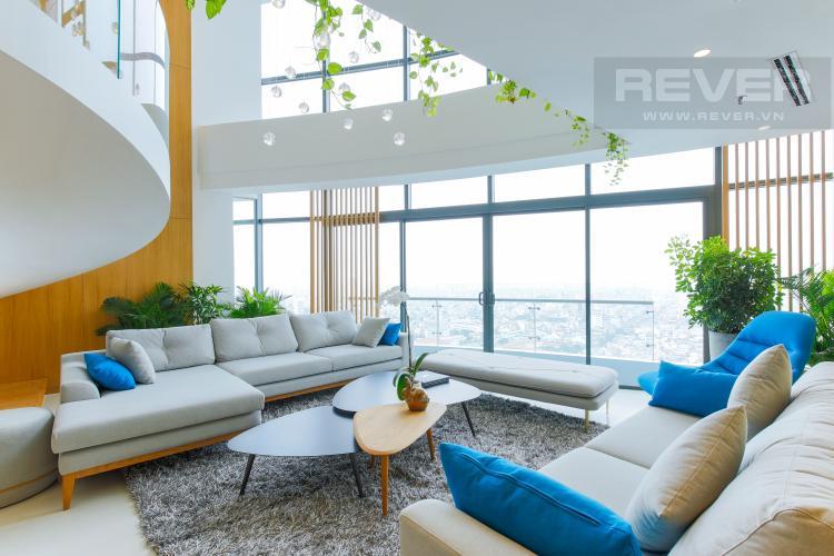 Sofa Penthouse City Garden tầng cao B2 thiết kế sang trọng, nội thất cao cấp