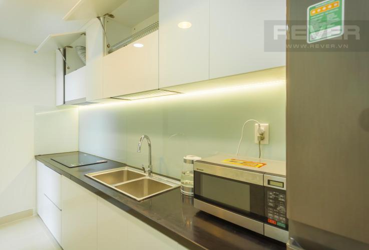 Nhà bếp thiết kế gọn gàng Căn hộ Masteri Thảo Điền 2 phòng ngủ tầng trung T3 nội thất đầy đủ