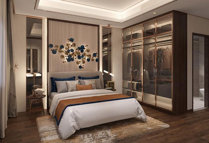 Phòng ngủ Opal Boulevard Căn hộ Opal Boulevard tầng 14, nội thất cơ bản, 2 phòng ngủ.