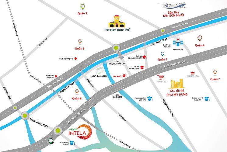 vị trí căn hộ Saigon Itela Căn hộ Saigon Intela nội thất cơ bản, view thành phố sầm uất.