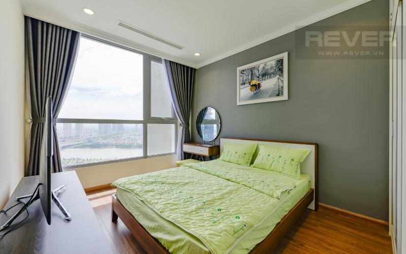 Phòng ngủ Căn hộ Vinhomes Central Park tầng cao Landmark 2 đầy đủ nội thất
