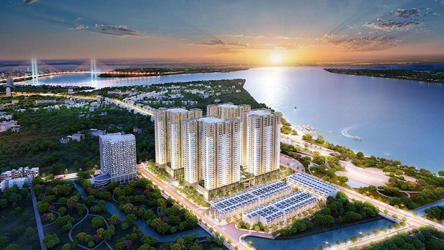Bán căn hộ Q7 Saigon Riverside 2PN, tầng cao, nội thất cơ bản, view sông Sài Gòn
