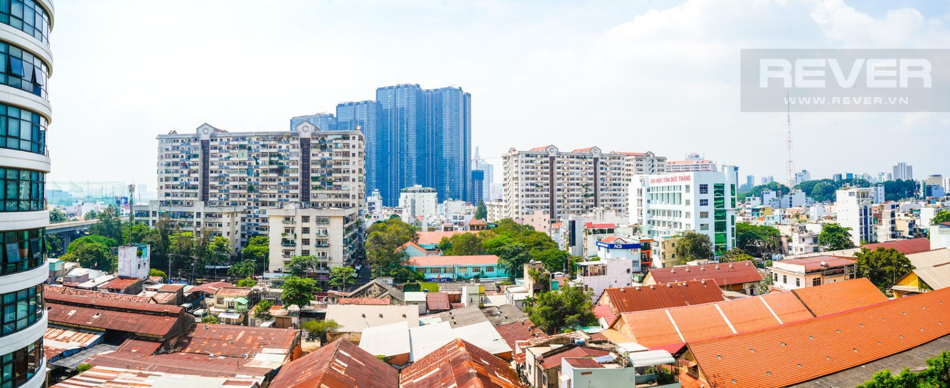 View Cho thuê căn hộ City Garden 1 phòng ngủ, tháp Promenade 2, đầy đủ nội thất, view trực diện hồ bơi