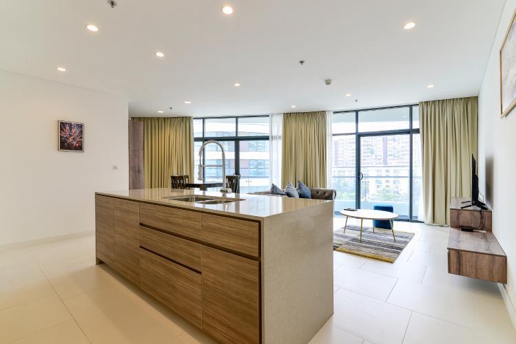 Cho thuê căn hộ City Garden view thành phố, 104m2 2PN 2WC, nội thất tiện nghi