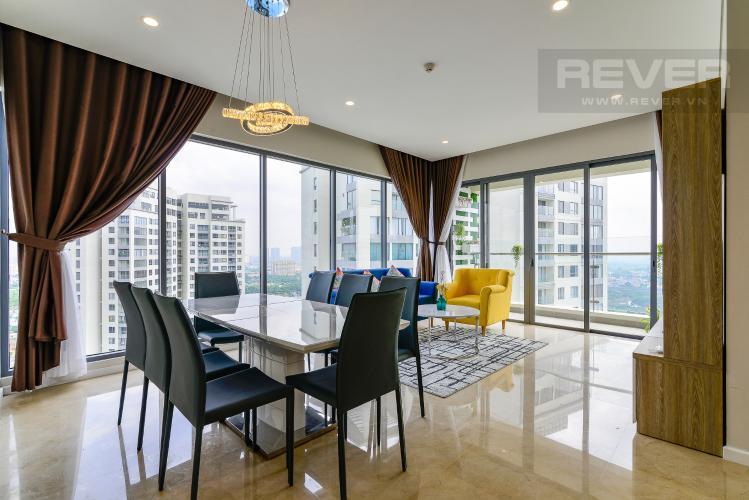 Phòng Khách Bán căn hộ Diamond Island - Đảo Kim Cương 3PN, tầng cao, tháp Maldives, đầy đủ nội thất
