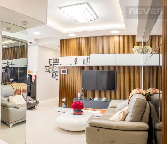 Phòng Khách Bán căn hộ RiverGate Residence 2PN, tầng cao, đầy đủ nội thất, view sông Sài Gòn