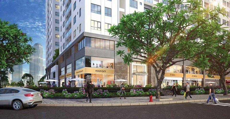 tiện ích khu mua sắm Q7 Boulevard Căn hộ Q7 Boulevard nội thất cơ bản, ban công thông thoáng.