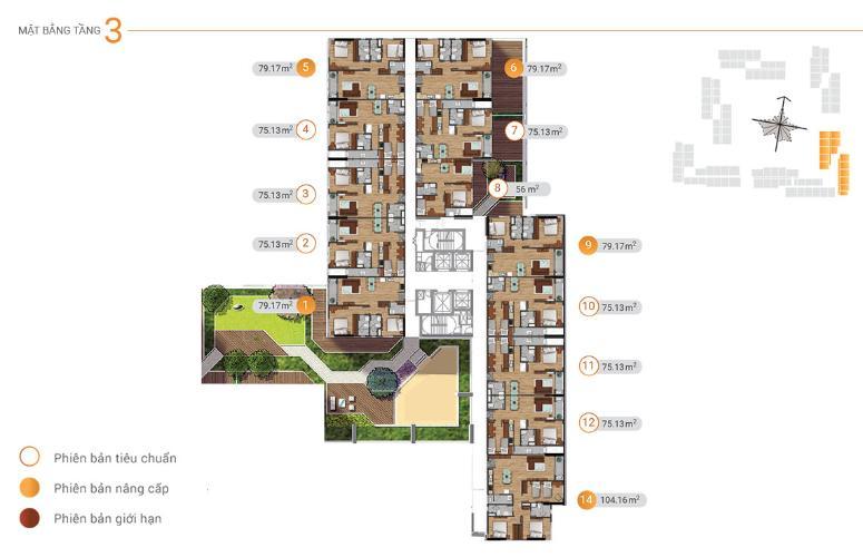 Mặt bằng căn hộ Akari City, Bình Tân Căn hộ Akari City tầng 05, nội thất cơ bản chủ đầu tư