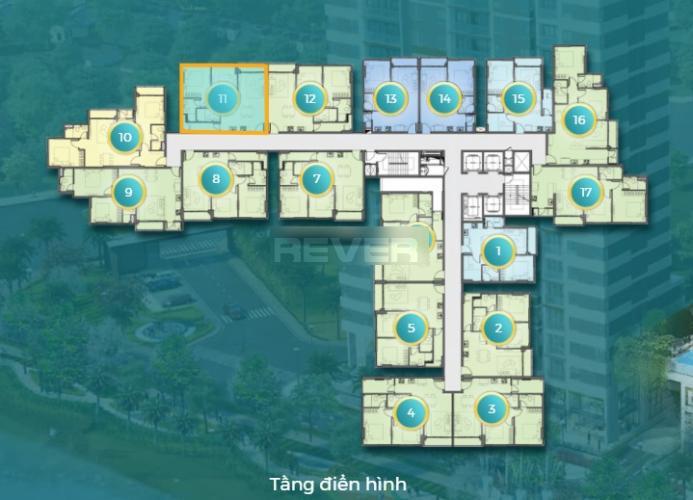 Layout D'Lusso Quận 2 Căn hộ D'Lusso tầng 8, ban công view sông, nội thất cơ bản.