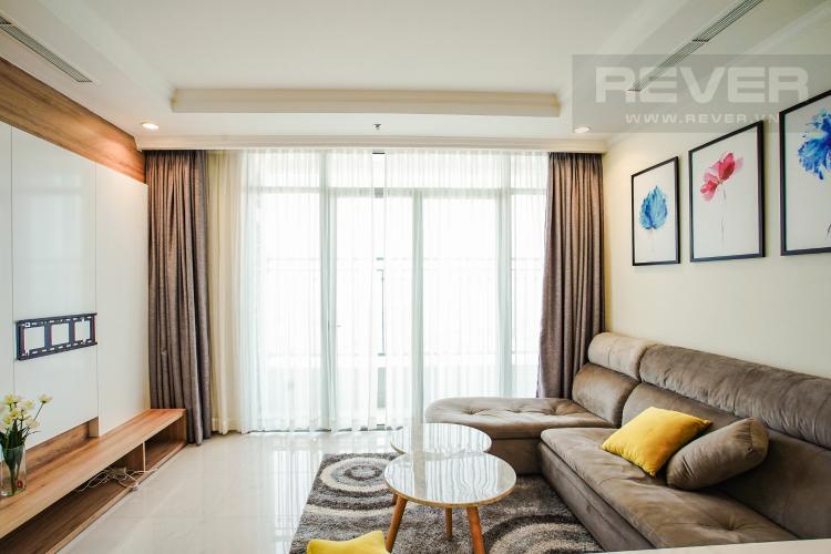 Phòng Khách Bán căn hộ Vinhomes Central Park hướng Tây Bắc, 103m2 2PN 2WC, nội thất cao cấp, view thành phố