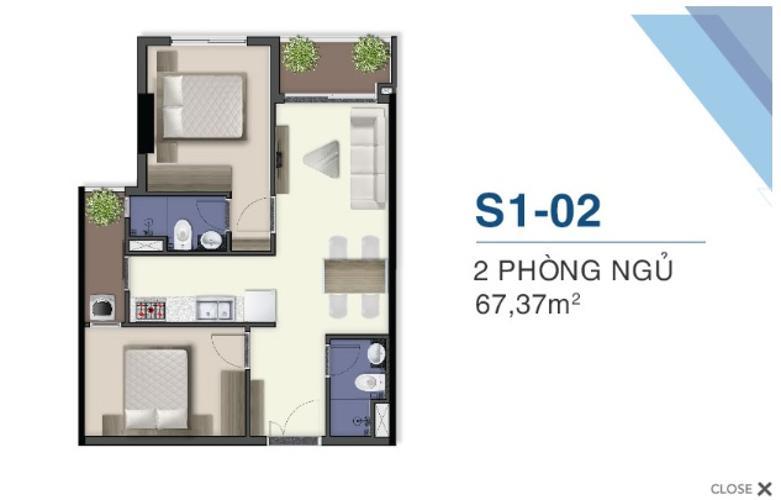 mặt bằng căn hộ q7 saigon riverside Căn hộ Q7 Saigon Riverside tầng cao, đón gió thoáng mát.