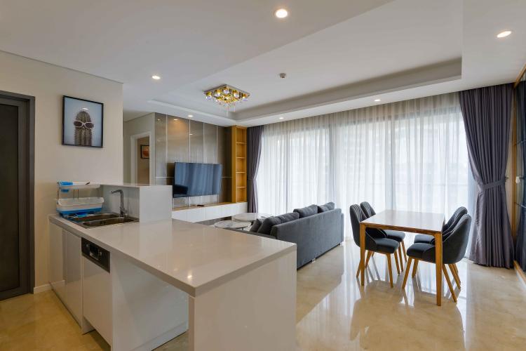 Phòng Khách Cho thuê căn hộ Diamond Island - Đảo Kim Cương, tháp Maldives, đầy đủ nội thất, view hồ bơi