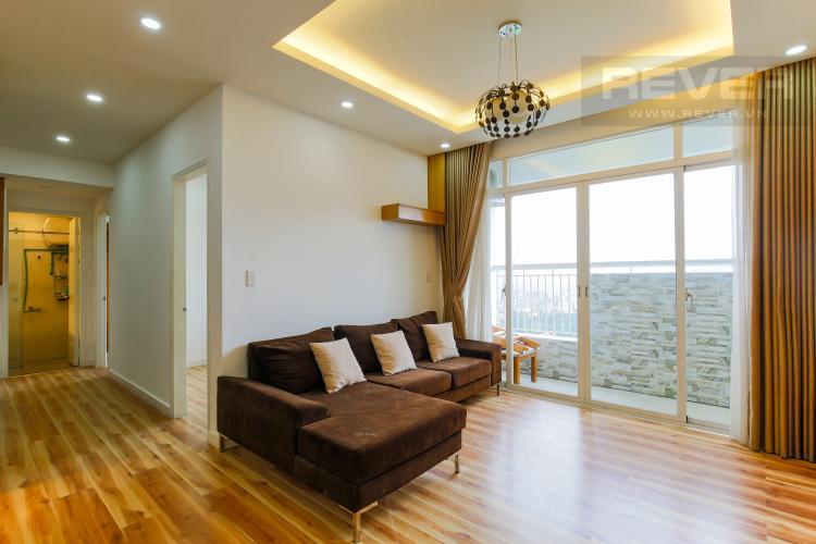Phòng Khách Căn hộ tầng cao chung cư Bình Khánh thiết kế đẹp, đầy đủ tiện nghi