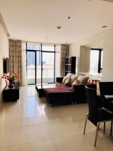 Căn hộ tầng cao City Garden 3 phòng ngủ nội thất đầy đủ.