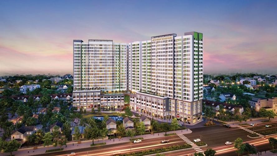 Moonlight Boulevard, Bình Tân Căn hộ Moonlight Boulevard tầng cao, hướng Nam view thành phố.